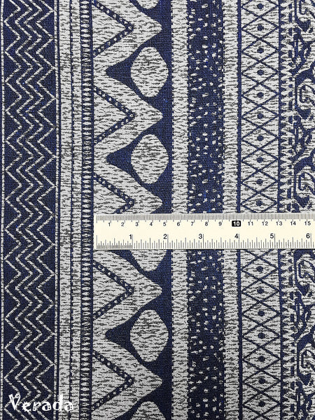 Thai Tribal Native Woven Fabric Textile 1/2 yard Blue (WF137), VeradaCraft, HaremPantsThai