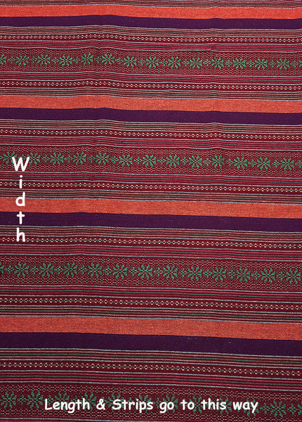 Woven Cotton Tribal Fabric Textile 1/2 yard Red (WF142), VeradaCraft, HaremPantsThai