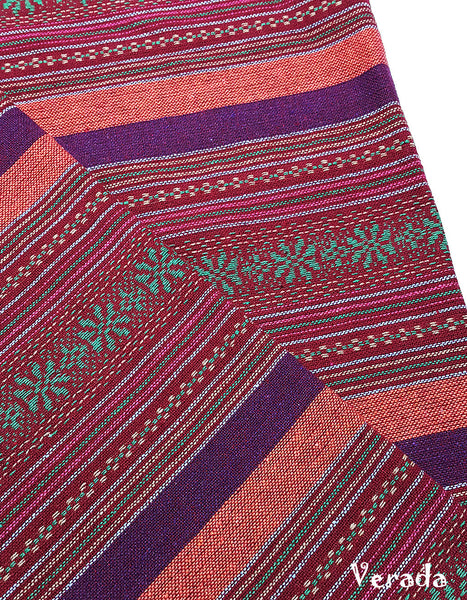 woven cotton fabric tribal fabric native fabric by the yard ethnic fabric aztec fabric craft supplies woven textile 1 2 yard red wf142