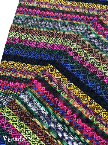 woven cotton fabric tribal fabric native fabric by the yard ethnic fabric aztec fabric craft supplies woven textile 1 2 yard wf145
