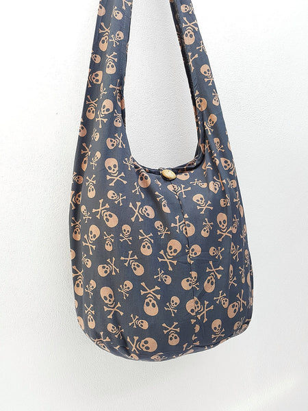 Women bag Handbags Cotton bag Skeleton Hippie Hobo bag Boho bag Shoulder bag Sling bag bag Tote bag Crossbody bag Purse Gray