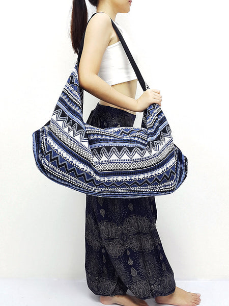Woven Bag backpack Hobo Boho bag Shoulder Bag Crossbody Bag Tribal bag Gypsy Bag Blue, VeradaShop, HaremPantsThai