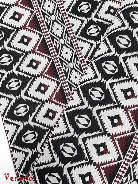 woven cotton fabric tribal fabric native fabric by the yard ethnic fabric aztec craft supplies woven textile 1 2 yard black white wf146