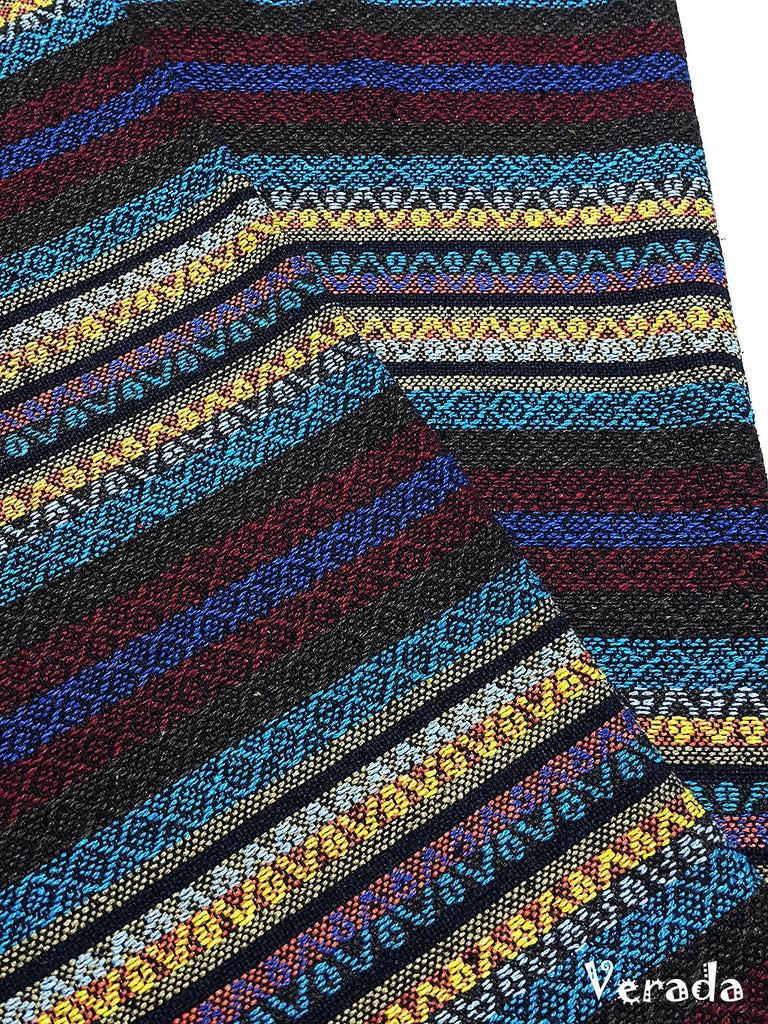 thai woven cotton fabric tribal fabric native fabric by the yard ethnic fabric aztec fabric craft supplies woven textile 1 2 yard wf148