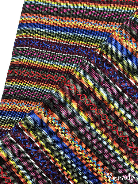 thai woven cotton fabric tribal fabric native fabric by the yard ethnic fabric aztec fabric craft supplies woven textile 1 2 yard wf149