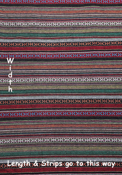 Thai Woven Cotton Tribal Fabric Textile 1/2 yard (WF120), VeradaCraft, HaremPantsThai