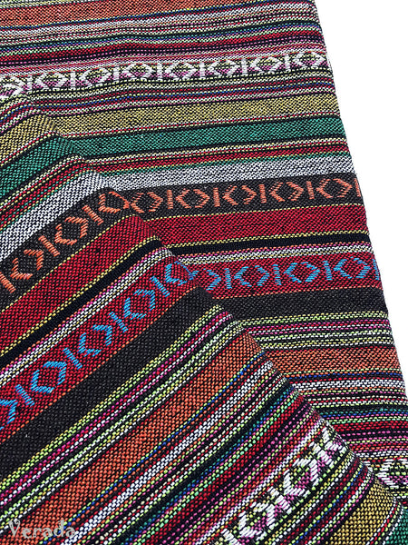 thai woven cotton fabric tribal fabric native fabric by the yard ethnic fabric aztec fabric craft supplies woven textile 1 2 yard wf120