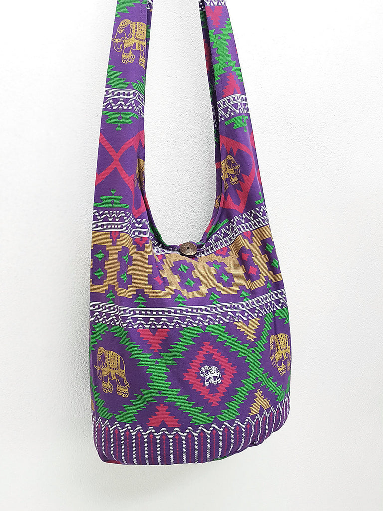 Women bag Handbags Cotton bag Elephant bag Hippie Hobo bag Boho bag Shoulder bag Sling bag bag Tote bag Crossbody bag Purse Purple