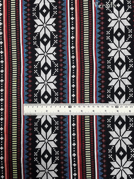 Woven Cotton Tribal Fabric Textile 1/2 yard Black (WF123), VeradaCraft, HaremPantsThai