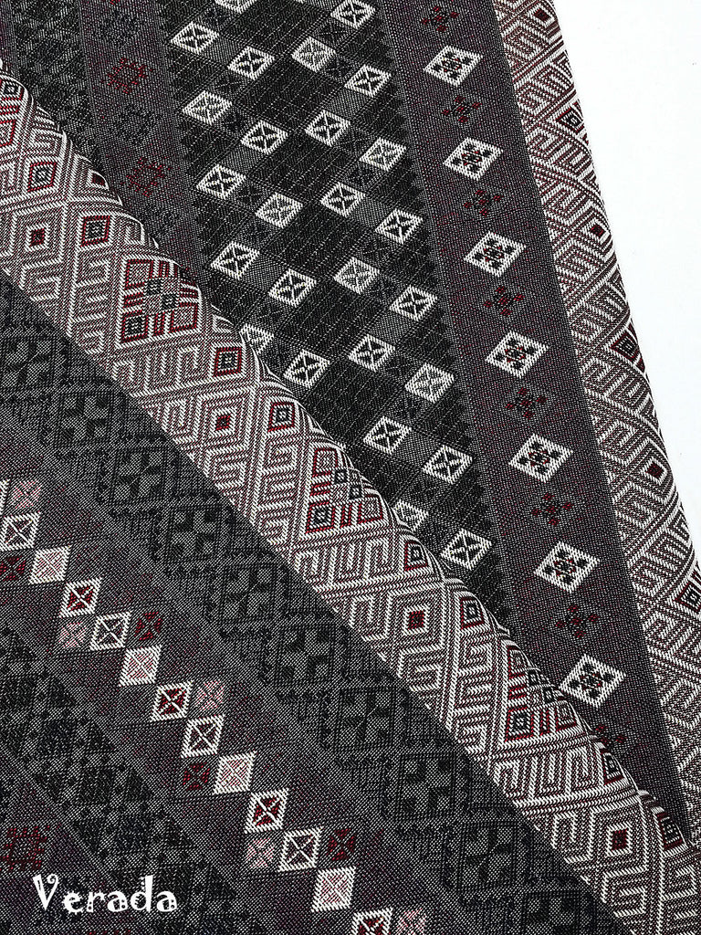thai woven fabric tribal fabric native fabric by the yard ethnic fabric aztec fabric craft supplies woven textile 1 2 yard wf152