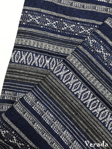 woven fabric tribal fabric cotton fabric by the yard ethnic fabric craft fabric craft supplies woven textile 1 2 yard blue white wf151