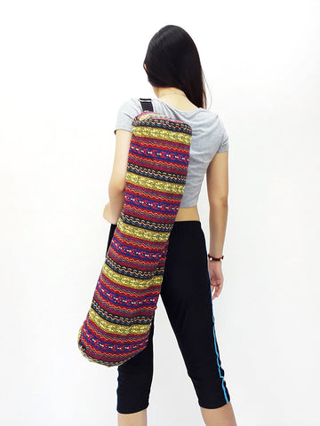Handmade Yoga Mat Bag Yoga Bag Sports Bags Sling bag Pilates Bag Pilates Mat Bag Woven Bag Women bag Woven Cotton bag Unisex bag (L-WF65)