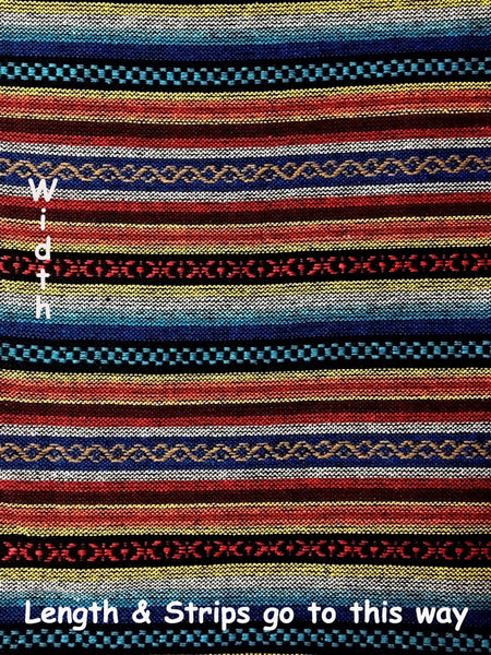 Thai Woven Cotton Tribal Fabric Textile 1/2 yard (WF13), VeradaCraft, HaremPantsThai