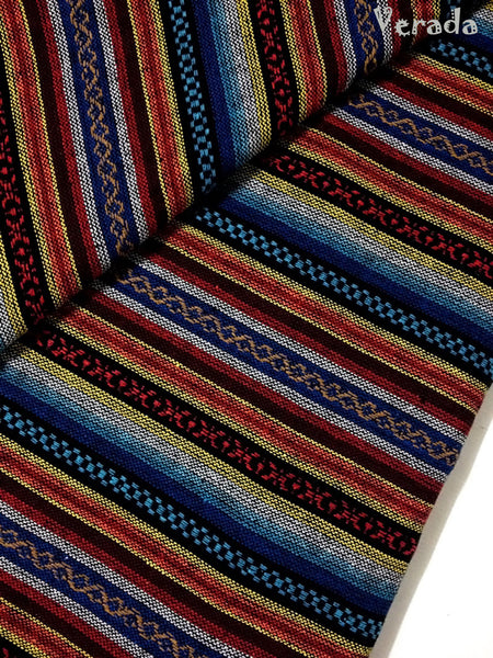 thai woven cotton fabric tribal fabric native fabric by the yard ethnic fabric aztec fabric craft supplies woven textile 1 2 yard wf13