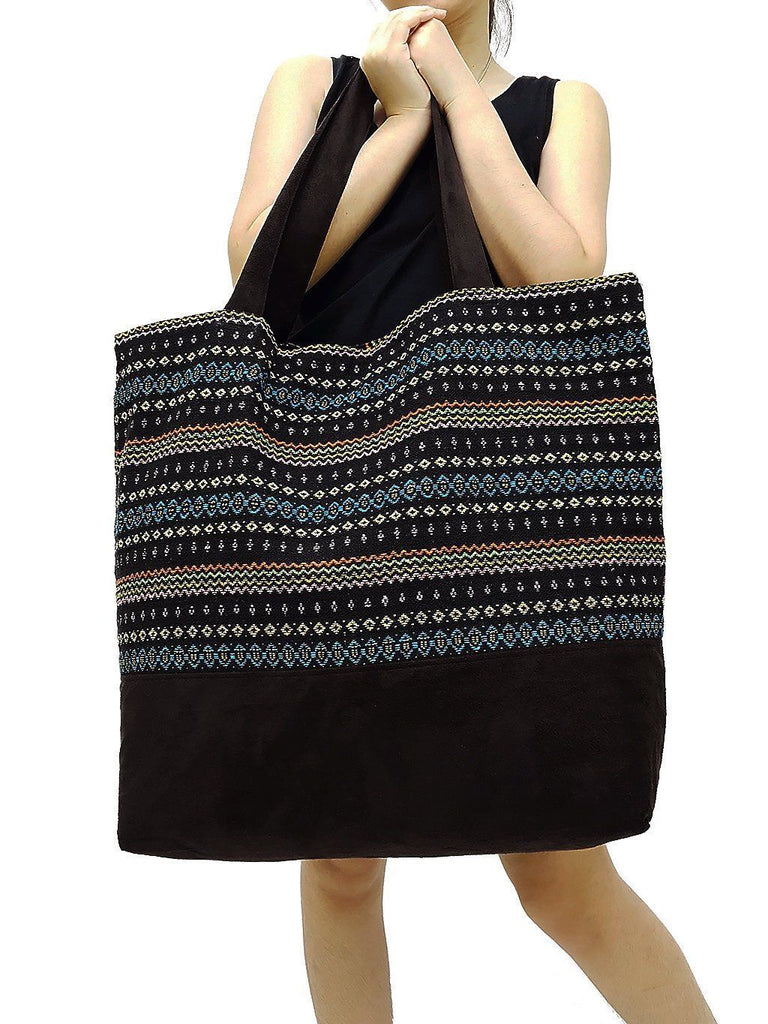 TWB2 - Woven Bag Cotton Tote Bag Shoulder Bag Market Bag Shopping Bag Women Bag