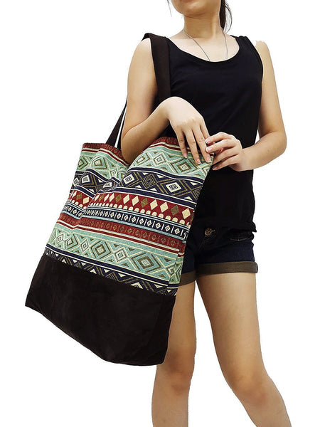 TWB4 - Woven Bag Cotton Tote Bag Shoulder Bag Market Bag Shopping Bag Women Bag