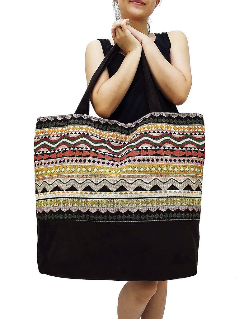 TWB11 - Woven Bag Cotton Tote Bag Shoulder Bag Market Bag Shopping Bag Women Bag