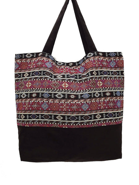 TWB7 - Woven Bag Cotton Tote Bag Shoulder Bag Market Bag Shopping Bag Women Bag