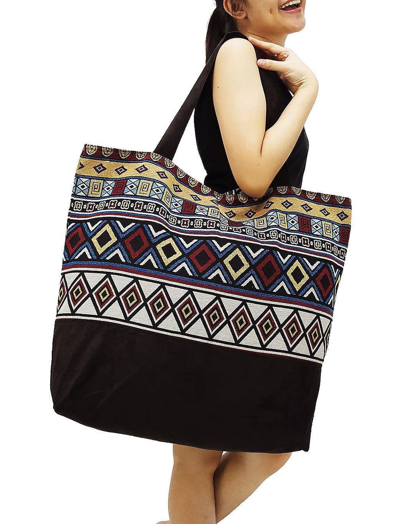 TWB8 - Woven Bag Cotton Tote Bag Shoulder Bag Market Bag Shopping Bag Women Bag
