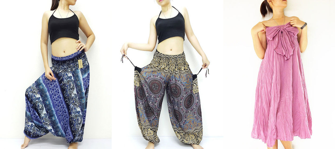 HaremPantsThai NaughtyGirl Women's Clothing Women's Harem Pants Trousers Dresses Shorts Skirts Dresses Skirts Tunic Blouses T Shirts