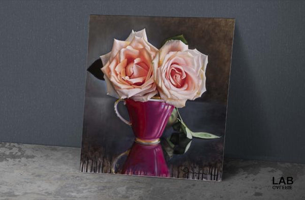 Guy-Anne Massicotte - Tasse Ancienne et Roses VII - Support TRAD - TRAD Support - Live Art Business - LAB
