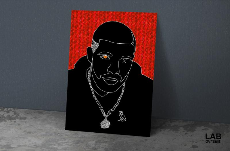 Nuńo - Red  Holo Drake - Giclée - Quality Support - Live Art Business - LAB