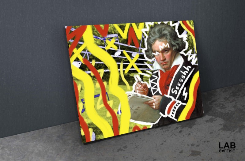 Nuńo - Beethoven - Giclée - Quality Support - Live Art Business - LAB