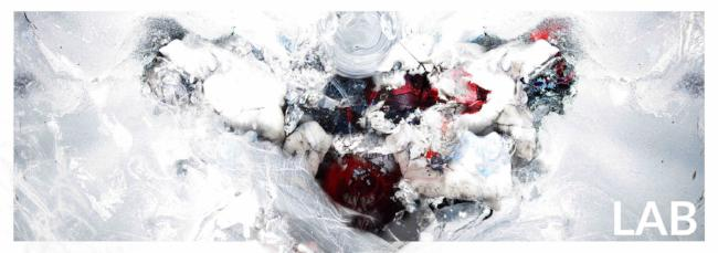 Luc Langlois - Inception de Rorschach - Acrylique Glacé - Clear Acrylic - Live Art Business - LAB