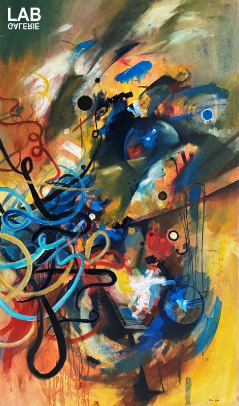 Volkan Çoban - Abstract Composition  - Artist - Artworks - Original - Limited Editions - Turkey - Original - for - sale - Limited Editions - Montreal - LAB Estrimont - LAB du Domaine - Art Gallery - Galerie - Art - Estrie - Orford - Thetford Mines - Appalaches