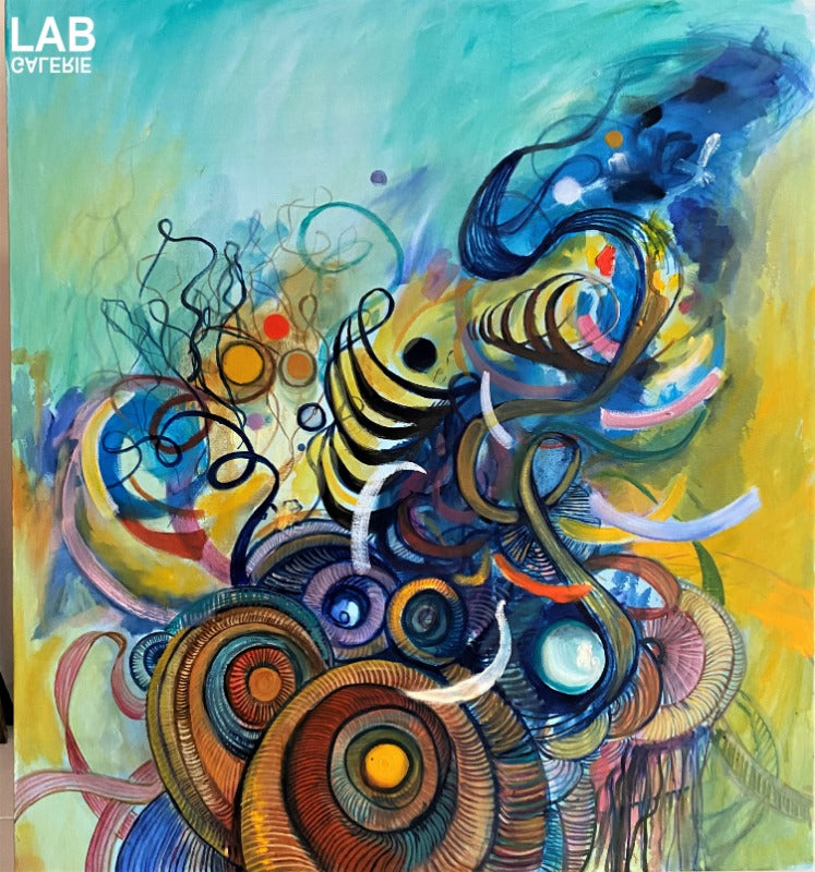 Volkan Çoban - Abstract Composition IV  - Artist - Artworks - Original - Limited Editions - Turkey - Original - for - sale - Limited Editions - Montreal - LAB Estrimont - LAB du Domaine - Art Gallery - Galerie - Art - Estrie - Orford - Thetford Mines - Appalaches