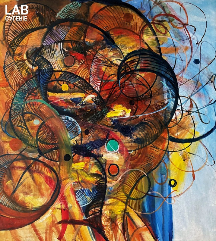 Volkan Çoban - Abstract Composition II  - Artist - Artworks - Original - Limited Editions - Turkey - Original - for - sale - Limited Editions - Montreal - LAB Estrimont - LAB du Domaine - Art Gallery - Galerie - Art - Estrie - Orford - Thetford Mines - Appalaches