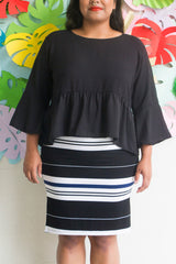 Bell Sleeve Gather top