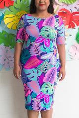 Tropical Neon Bodycon Dress