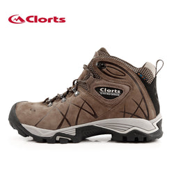 Clorts 2017 Men Outdoor Hiking Boots Waterproof Non-slip Mountaineering Shoes Real Leather Trekking Hiking Shoes HKM-802A