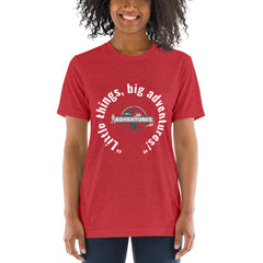 """Little things, big adventures!"" Short sleeve t-shirt"