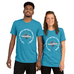 """Life is an adventure and that is best lived boldly."" Short sleeve t-shirt"