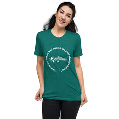 """Then one day, when you least expect it, the great adventure finds you."" Short sleeve t-shirt"