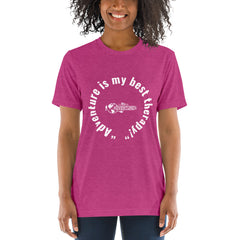"""Adventure is my best therapy!"" Short sleeve t-shirt"