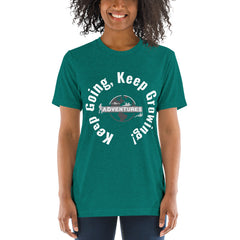 Keep Going, Keep Growing! Short sleeve t-shirt