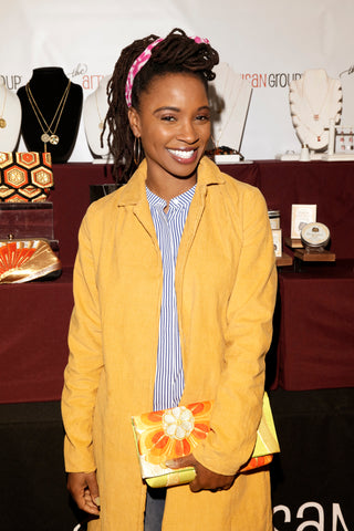 "Heritage ReFashioned Kimono Clutch with Shanola Hampton (starred as Veronica Fisher in ""Shameless"" TV Series)"