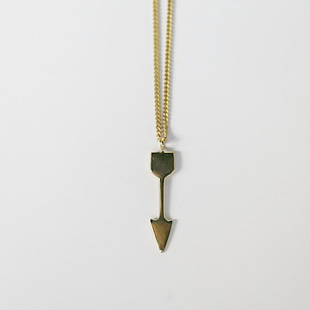 Fair Trade Arrow Pendant Brass Necklace