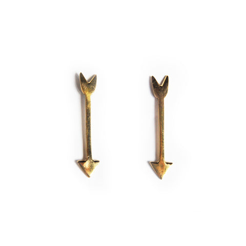 Arrow Brass Earrings