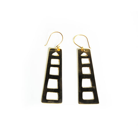 Fair Trade Azibo Brass Earrings