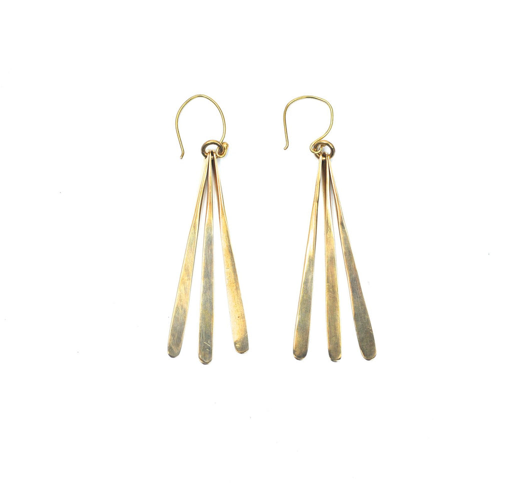 Cascade Brass Earrings