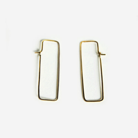 Chiku Brass Earrings