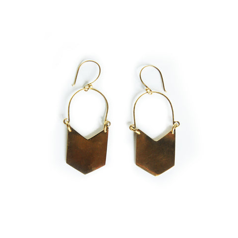 Fair Trade Dumi Brass Earrings