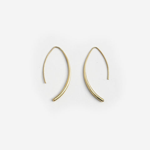 Curve Brass Earrings