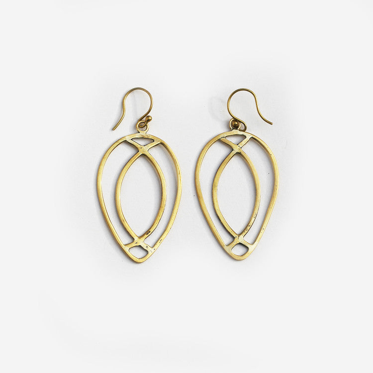 Chapel Brass Earrings