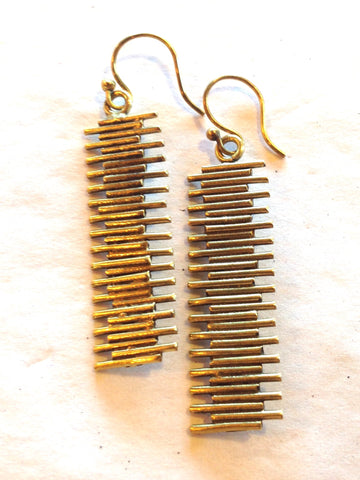 Flimbo Brass Earrings