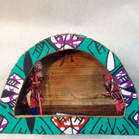 Kitenge Fabric Arch Nativity